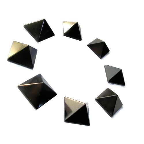 Black Agate Gemstone Pyramid